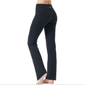 Zeronic Bootcut Yoga Pants Black Stretch Pants XS